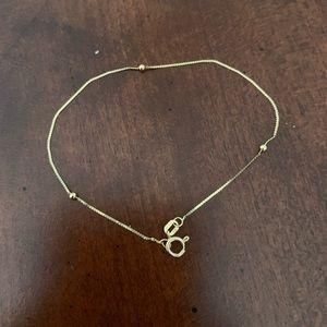 14kt gold bracelet with gold balls